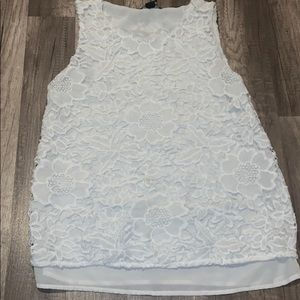White Flower lace top